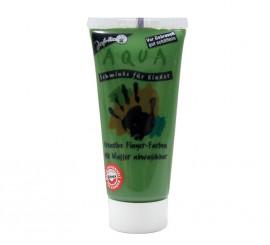 Maquillaje al agua en tubo de color verde