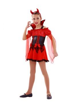 Disfraz de Demonia roja para niñas