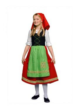 Disfraz de Pastora Roja para niña