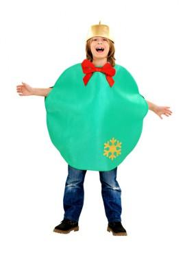 Disfraz de Bola de Navidad verde para niños