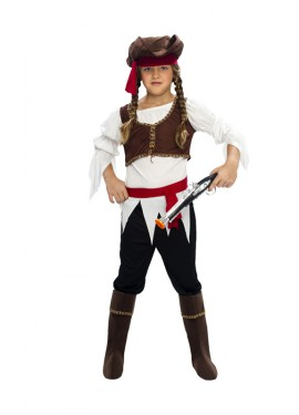 Déguisement de Fille Pirate pour enfants plusieurs tailles