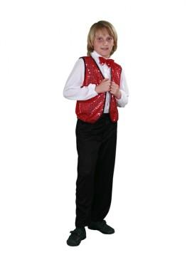 Disfraz de Charlestón rojo para niños