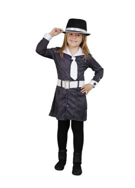 Disfraz de Gángster para niñas