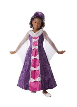 Disfraz de Princesa Lavanda 7-9 años para niña