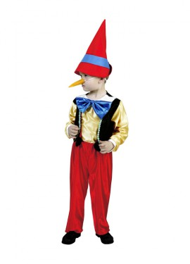 Disfraz de Pinocho para niños de 1 a 2 años