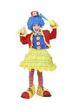 Déguisement de Petite Clown Couleurs enfants plusieurs tailles