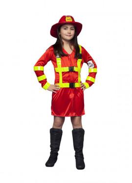 Disfraz de Bombera para niñas