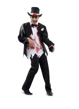 Disfraz de Gentleman Zombie para hombre talla M-L