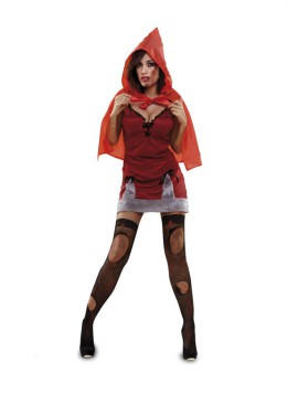Disfraz de Caperucita Roja Zombie para mujer talla M-L