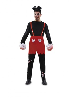Disfraz de Ratón Zombie para hombres talla M-L