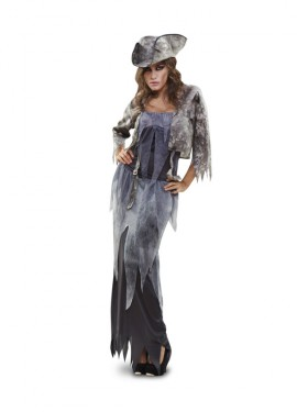 Disfraz de Fantasma Pirata para mujer talla M-L