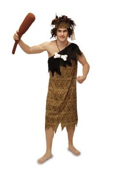 Disfraz de Troglodita para hombre. Talla M-L