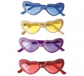 Gafas con corazones en colores surtidos