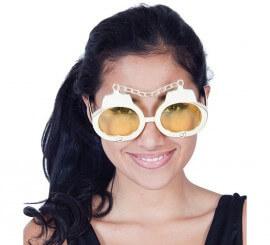 Gafas con Esposas doradas