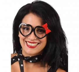 Gafas de Corazones con Lazo