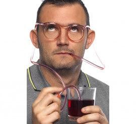 Gafas de Pajitas Transparentes para beber