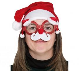 Gafas de Papá Noel con adornos