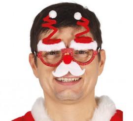 Gafas de Papá Noel con Bigote y Gorros