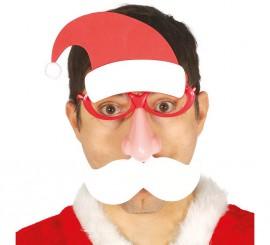 Gafas de Papá Noel con Nariz y Luz