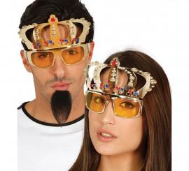 Gafas de Rey o Reina con corona