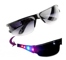 Gafas de Sol negras con luces LED