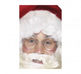 Gafas Metálicas de Papá Noel Plateadas