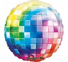 Globo metalizado Bola de Disco Extra Grande de 81 cm
