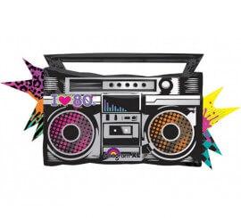 Globo metalizado Radio Cassette de los 80 de 88x43 cm