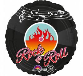 Globo metalizado Rock and Roll años 50 de 43 cm