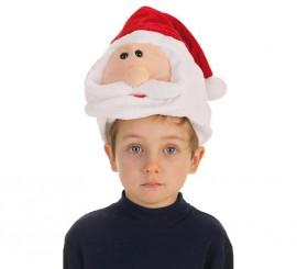 Gorro de Cabeza de Papá Noel infantil