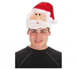 Gorro de Cabeza de Papá Noel para adultos