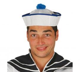 Gorro Marinero con Pom Pom azul