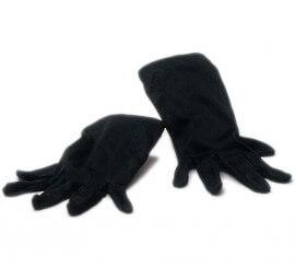 Guantes cortos negros 23 cm.
