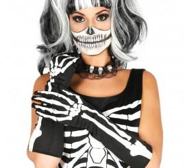 Pies esqueleto amarillo adulto Halloween - Única okJ0KPTUFs