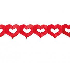 Guirnalda con corazones 300 cm