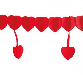 Guirnalda con corazones colgantes 400 cm