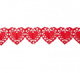 Guirnalda corazones grandes 400 cm