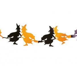 Guirnalda de Brujas naranja y negro 300 cm