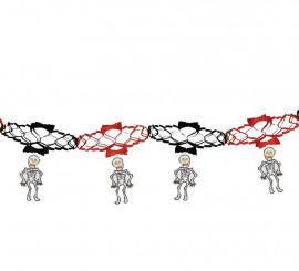Guirnalda fantasía esqueletos de 15x200 cm