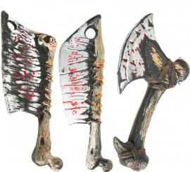 Hachas con sangre en modelos surtidos 33 cm