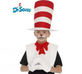 Kit Cat in the Hat infantil: Sombrero, babero con lazo y guantes