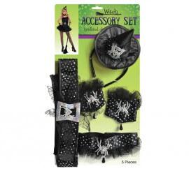 Kit de accesorios de bruja con adornos de araña