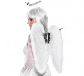 Kit de Ángel blanco: Alas y Aureola 55x50cm