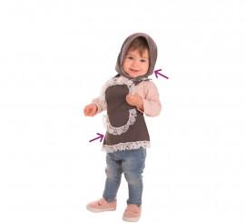 Kit Castagnaia grigio per neonato: grembiule e fazzoletto