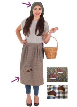 Kit de Castañera para mujer: Delantal y Pañuelo
