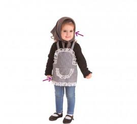 Kit de Castañera Vichy para niña: Delantal y Pañuelo