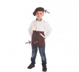 Kit de Castañero para niño: Delantal y Boina