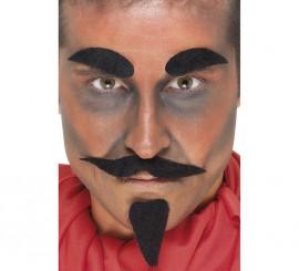 Kit de Diablo: Bigote, Cejas y Barba