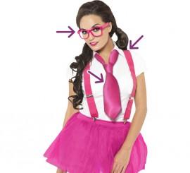 Kit de Estudiante Glamurosa: Gafas, Tirantes y Corbata