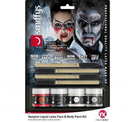 Kit de Látex líquido con 4 colores para Vampiro de 29,5 ml.